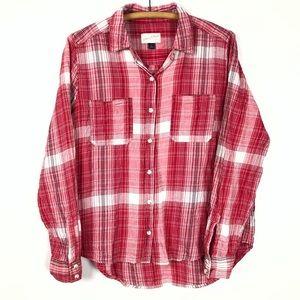 🌿 universal thread plaid shirt